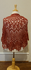 Red Stag Dusty Red Shawl