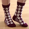 Swirling Star Socks Pattern